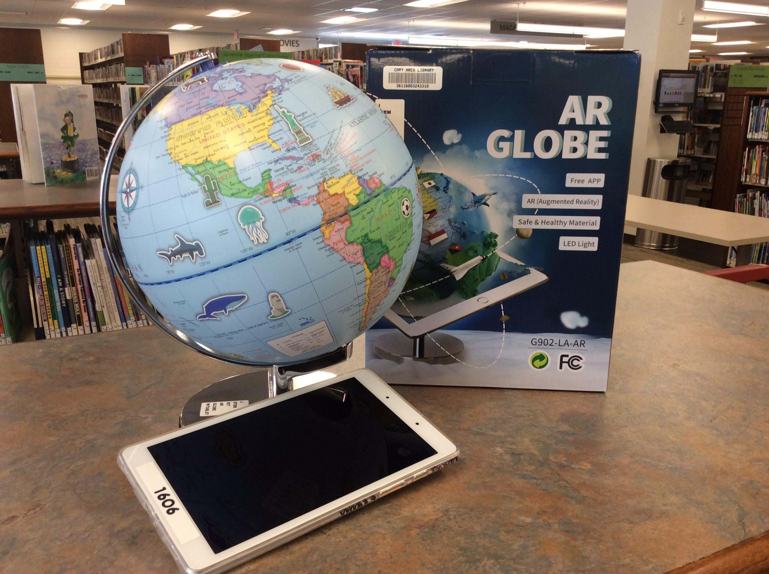 AR Globe and tablet